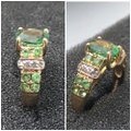 Green and Yellow Gold 14kt Gemstone & Diamond Ring Green and Yellow Gold 14kt Gemstone & Diamond Ring Image 3