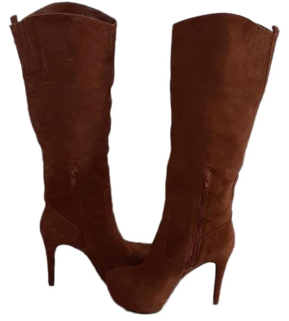 Bakers Brown Women's Suede Tall Boots/Booties Size US 8 Regular (M, B) Bakers Brown Women's Suede Tall Boots/Booties Size US 8 Regular (M, B) Image 1
