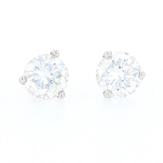 Wilson Brothers Jewelry White Gold Diamond Stud 14k Round Brilliant Cut 1.06ctw Z1024 Earrings Wilson Brothers Jewelry White Gold Diamond Stud 14k Round Brilliant Cut 1.06ctw Z1024 Earrings Image 1