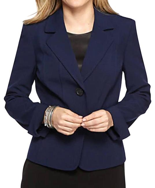 Preload https://img-static.tradesy.com/item/27991243/kasper-navy-blue-two-buttons-nwot-blazer-size-2-xs-0-1-650-650.jpg