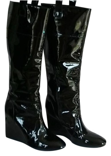 Preload https://img-static.tradesy.com/item/27991247/j-vincent-black-patent-leather-wedge-bootsbooties-size-us-10-regular-m-b-0-1-540-540.jpg