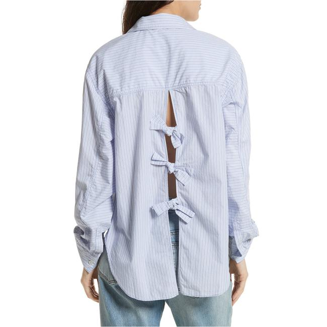 Preload https://img-static.tradesy.com/item/27991252/free-people-blue-l-tie-it-in-a-bow-back-cotton-striped-button-front-shirt-button-down-top-size-12-l-0-2-650-650.jpg