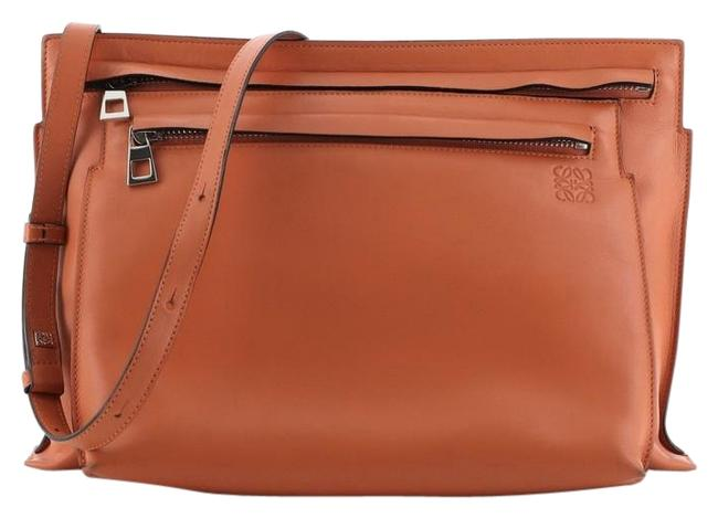 Loewe Double Pouch Large Orange Leather Cross Body Bag Loewe Double Pouch Large Orange Leather Cross Body Bag Image 1