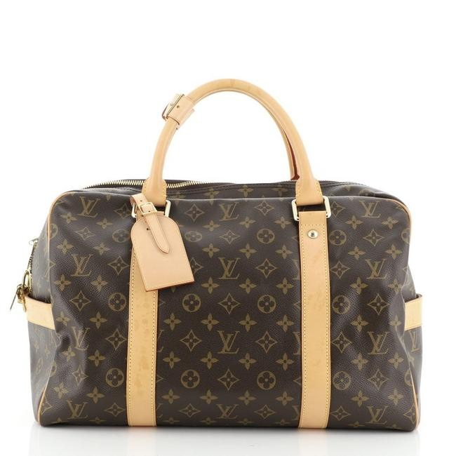 Louis Vuitton Carryall Handbag Monogram Brown Canvas (Coated) Satchel Louis Vuitton Carryall Handbag Monogram Brown Canvas (Coated) Satchel Image 1