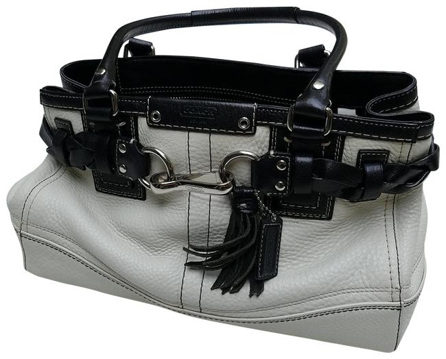 Coach Carryall F13084 Off White Leather Satchel Coach Carryall F13084 Off White Leather Satchel Image 1