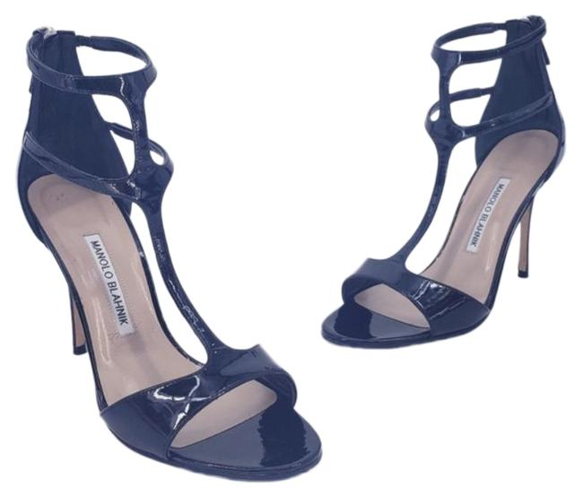 Item - Black Cellin Strappy Patent Leather Sandal In Formal Shoes Size EU 37.5 (Approx. US 7.5) Regular (M, B)