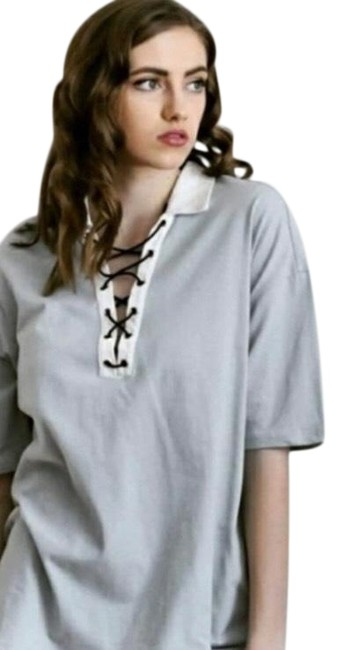 Item - Women's Collared Shirt/ Criss Cross Front Tunic Size 12 (L)
