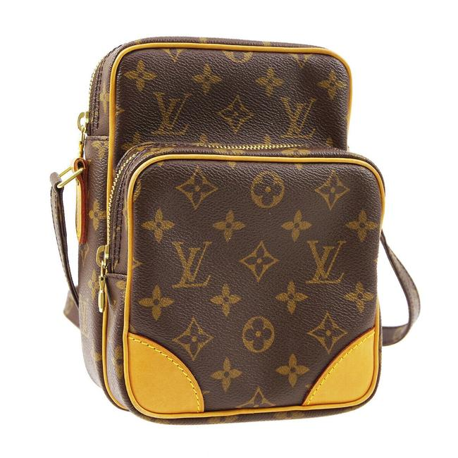 Louis Vuitton Amazone Amazon Like New Discontinued Brown Monogram Canvas and Calfskin Cross Body Bag Louis Vuitton Amazone Amazon Like New Discontinued Brown Monogram Canvas and Calfskin Cross Body Bag Image 1