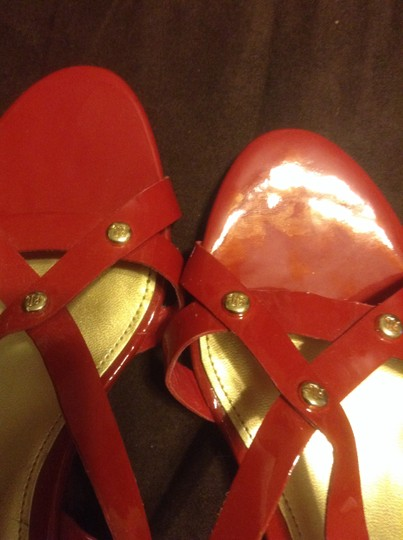 Ralph Lauren Red Wedges