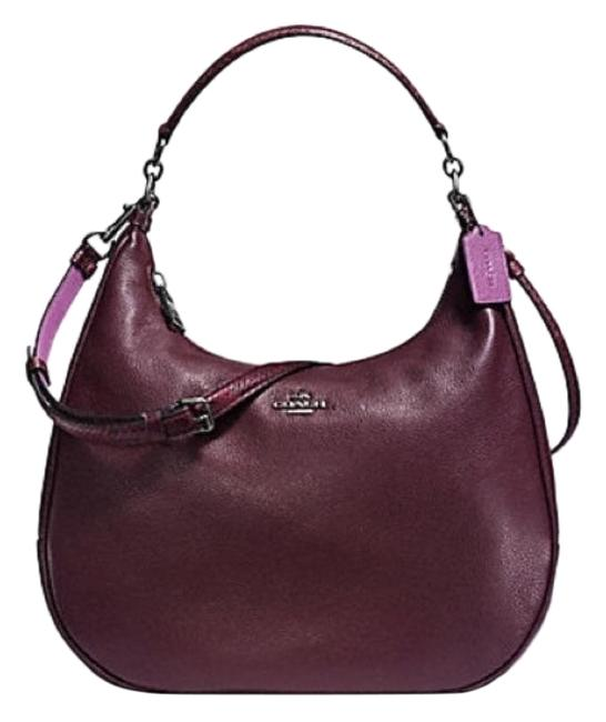 Item - Harley East West In Oxblood and Python Purple Leather Hobo Bag