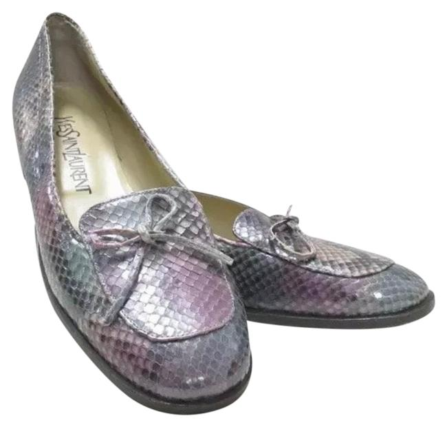 Item - Multicolor Python Loafers Flats Size US 7.5 Narrow (Aa, N)