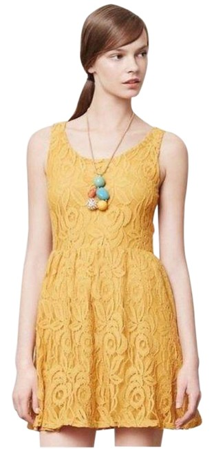 Preload https://img-static.tradesy.com/item/27992308/anthropologie-yellow-moulinette-soeurs-lace-short-casual-dress-size-8-m-0-1-650-650.jpg