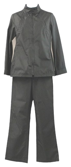 Cult of Individuality INDIVI BY ATSURO TAYAMA 2-PC. BLACK NYLON PANT SUIT 36