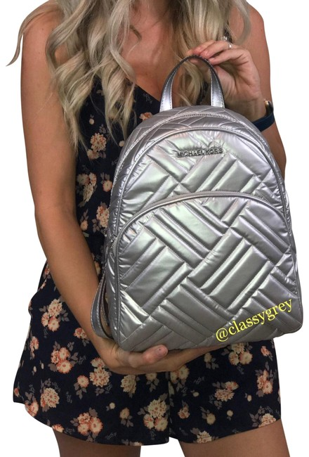 Item - Md Abbey Silver Leather Backpack