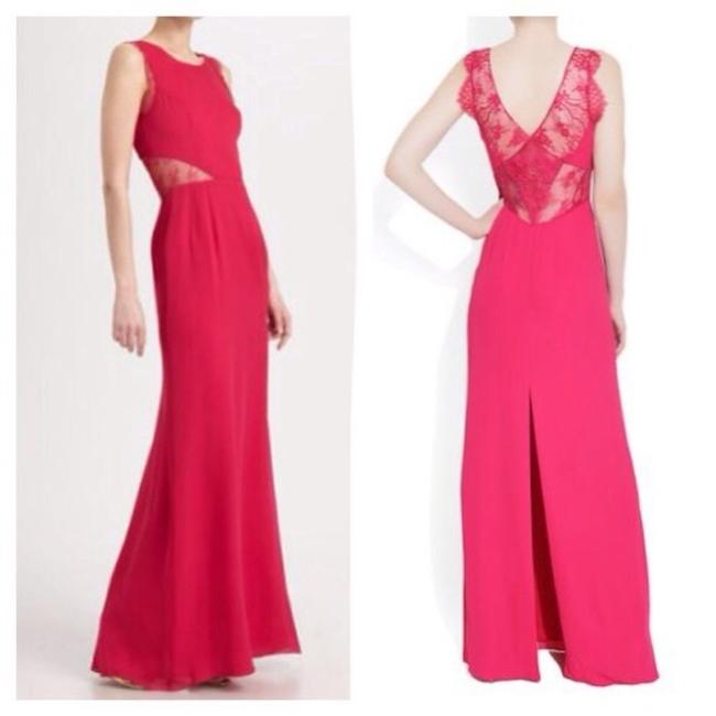 Item - Red Bcbg Dark Pink Karey Lace Gown Long Night Out Dress Size 0 (XS)
