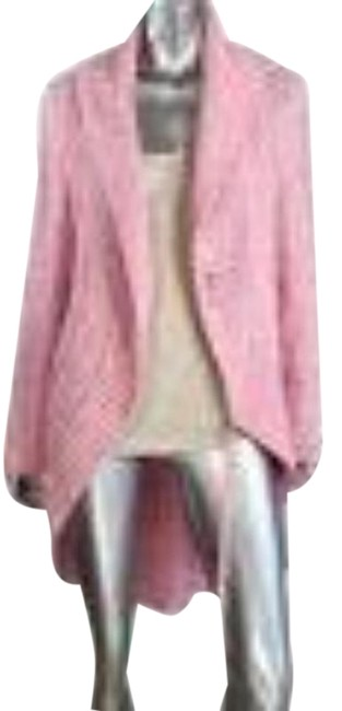 Item - Pink Knit Open Front Cardigan Size 4 (S)