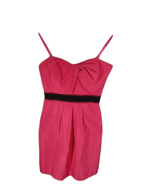 Item - Black and Coral (Sku 000194-9) Short Night Out Dress Size 0 (XS)
