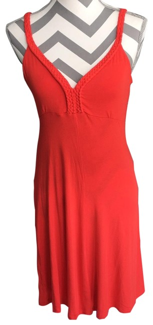 Item - Red Tank Mid-length Short Casual Dress Size 6 (S)