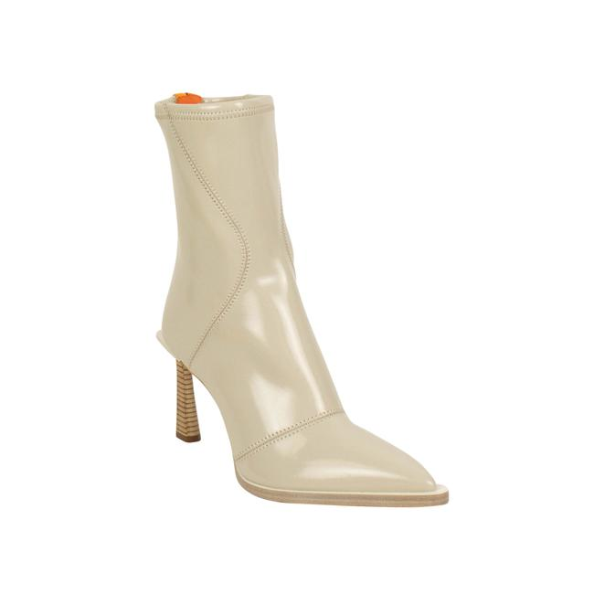 Item - Gray Glossy Tronchetto Pointed Ankle Heels Boots/Booties Size EU 38.5 (Approx. US 8.5) Regular (M, B)