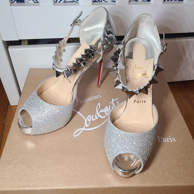 Item - Silver Planisfemme 120 Glitter Sandals Size US 8 Regular (M, B)