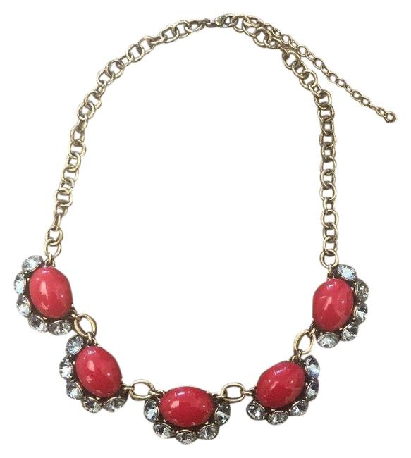 Item - Red and Gold Statement Necklace