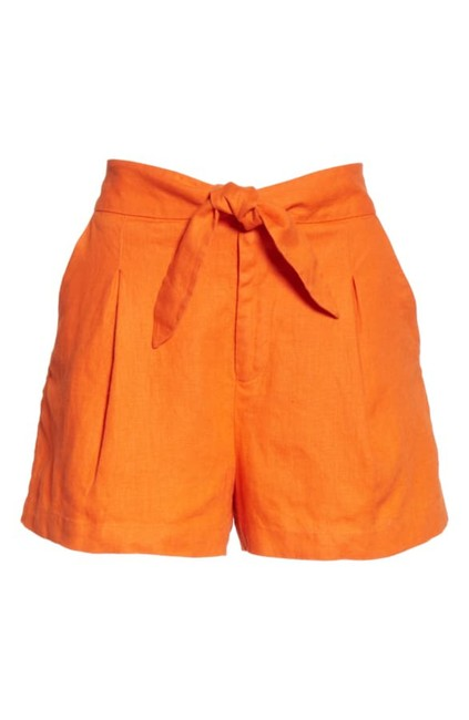 Item - Orange Carden Linen Shorts Size 4 (S, 27)