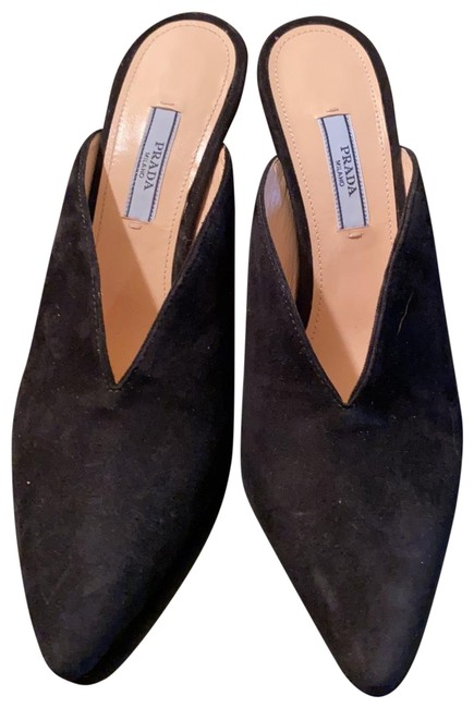 Item - Black Kid Suede Sweetheart Throat Dress Mules/Slides Size EU 37 (Approx. US 7) Regular (M, B)