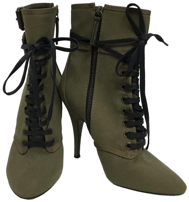 Item - Olive Lace Up Ankle with Buckles Boots/Booties Size EU 37.5 (Approx. US 7.5) Regular (M, B)