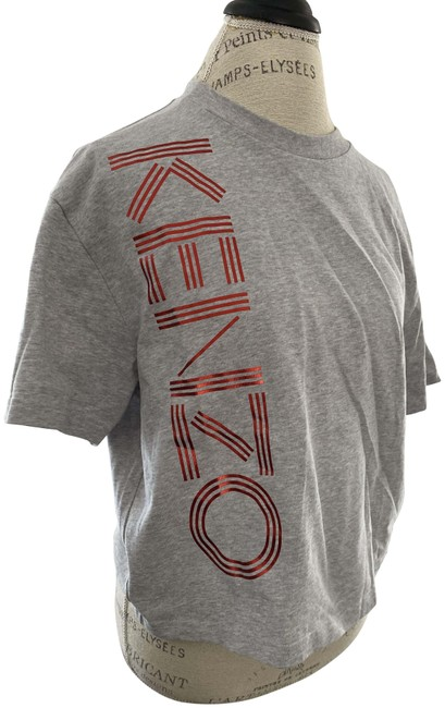 Item - Gray Women's Cropped Sleeve Graphic Logo Small Tee Shirt Size 6 (S)