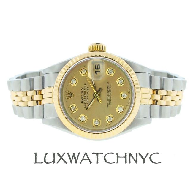 Rolex Chapagne 26mm Datejust Gold and Stainless Steel with Appraisal Watch Rolex Chapagne 26mm Datejust Gold and Stainless Steel with Appraisal Watch Image 1