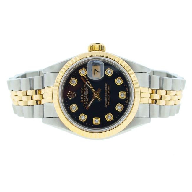 Rolex Black Dial 26mm Datejust Gold and Stainless Steel with Appraisal Watch Rolex Black Dial 26mm Datejust Gold and Stainless Steel with Appraisal Watch Image 1
