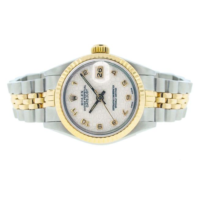 Rolex White Jubilee Dial 26mm Datejust Gold and Stainless Steel with Appraisal Watch Rolex White Jubilee Dial 26mm Datejust Gold and Stainless Steel with Appraisal Watch Image 1