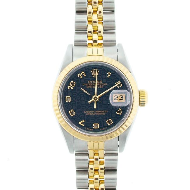 Rolex Blue Jubilee Dial 26mm Datejust Gold and Stainless Steel with Appraisal Watch Rolex Blue Jubilee Dial 26mm Datejust Gold and Stainless Steel with Appraisal Watch Image 1