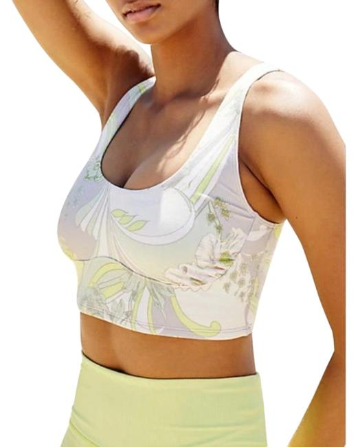 Item - Bright Lime Combo Wave Crush Activewear Sports Bra Size 4 (S, 27)