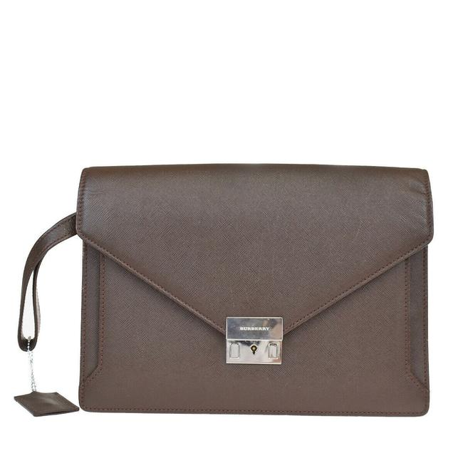 Item - 01fb446 Brown Leather Clutch