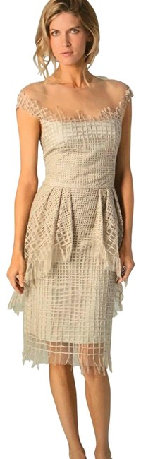 Item - Tan Mid-length Night Out Dress Size 6 (S)
