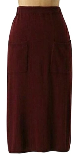 Item - Plum Gamay Sweater Knit A-line By Sparrow Skirt Size 0 (XS, 25)
