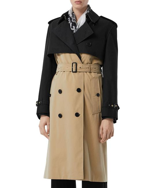 Item - Black and Camel Reduced Deighton Two-tone Coat Size 6 (S)