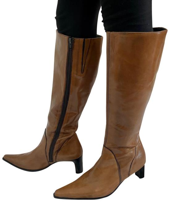 Item - Camel Brown Knee High Leather Boots/Booties Size US 9 Regular (M, B)