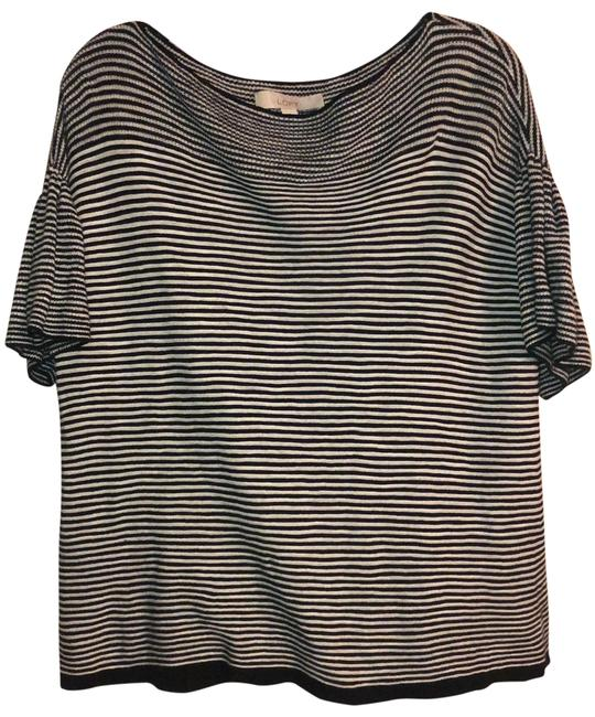 Item - Black and White Knit Pullover Tunic Size 10 (M)