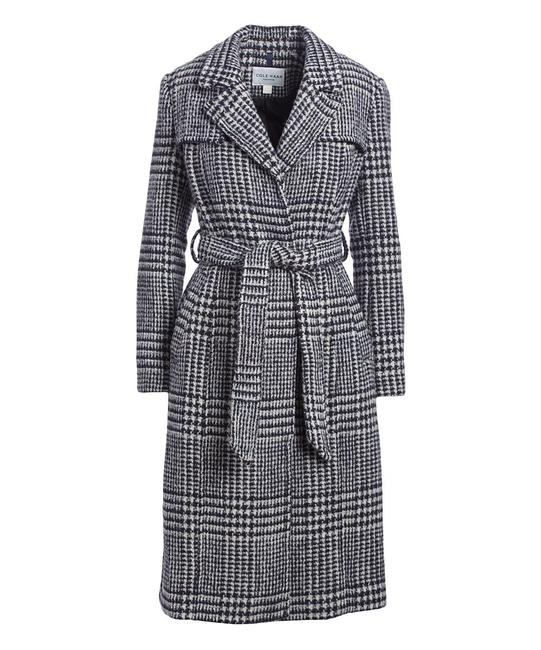Preload https://img-static.tradesy.com/item/27997504/cole-haan-black-and-white-houndstooth-wool-blend-coat-size-12-l-0-0-650-650.jpg