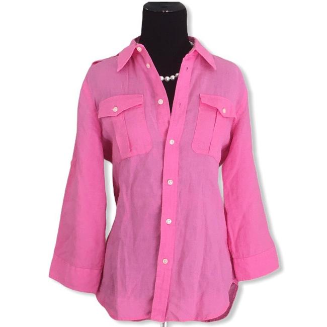 Item - Pink Camp Button-down Top Size 8 (M)