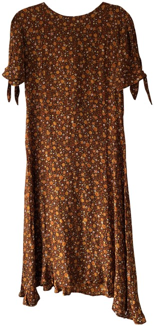 Faithfull the Brand Brown Floral Emila Midi Mid-length Casual Maxi Dress Size 8 (M) Faithfull the Brand Brown Floral Emila Midi Mid-length Casual Maxi Dress Size 8 (M) Image 1
