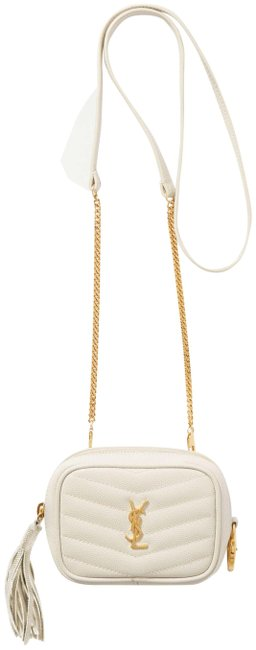 Item - Monogram Loulou Lou Baby Quilted Textured-leather White Leather Shoulder Bag