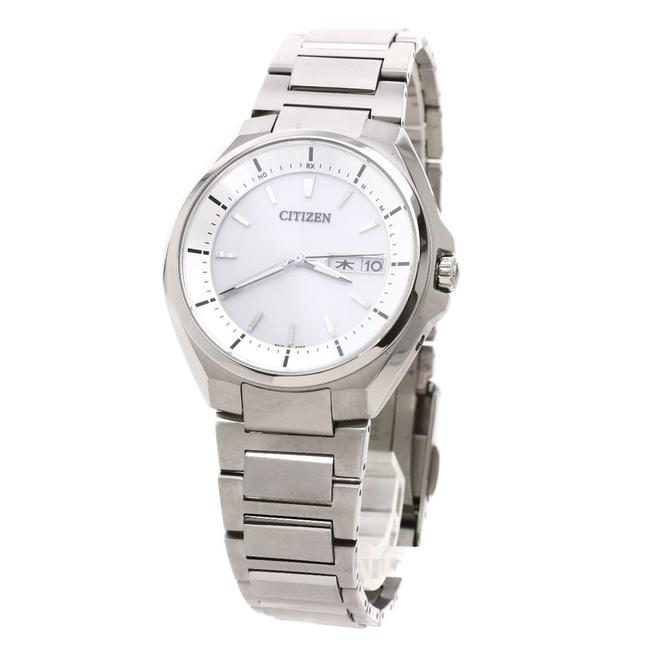 Item - H100-r007556 Round Face At6050-54a Stainless Steel Men's Watch