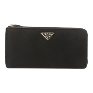 Prada Prada 1ML183 Logo Plate Long Wallet Nylon Unisex