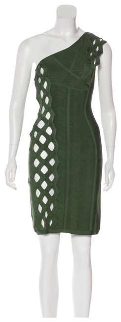Item - Green Bandage Short Cocktail Dress Size 6 (S)