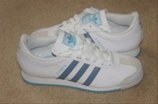 adidas light blue and white Athletic