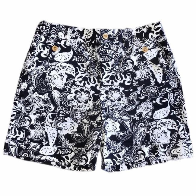Item - Navy Blue and White Women Floral Shorts Size 6 (S, 28)