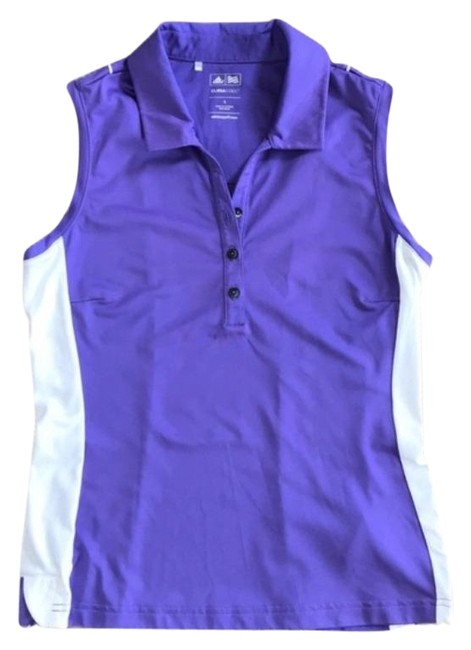 Item - Purple and White. Climacool Sleeveless Tennis Golf Polo Activewear Top Size 6 (S)